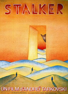 An international poster for Andrei Tarkovsky's Stalker, a film about large cats Film D, Cinema Film, Film Movie, George Clooney, Cool Posters, Film Posters, Cannes, Science Fiction, History Of Illustration