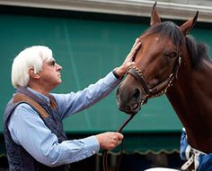 american pharaoh and Bob Baffert - Bing images Bob Baffert, American Pharoah, New Friendship, Racehorse, Thoroughbred, Horse Racing, Horses, Classic, Animals