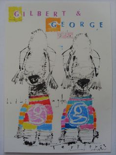 Gilbert & George the Bedlington Terrier Dogs by Andy Shaw www.saatchiart.com/andyshawart www.etsy.com/shop/AndyShawArt