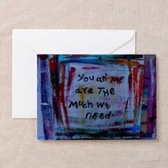 you an' me greeting card