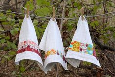 Quilt Story: Tutorial: Fabric Embellished Dish Towels