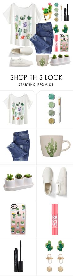 """""""Lazy Days Cactus Craze"""" by aimee716 ❤ liked on Polyvore featuring Terre Mère, Essie, Gap, Casetify, Maybelline, Smashbox, Loren Olivia, Kate Spade, casual and Cactus"""