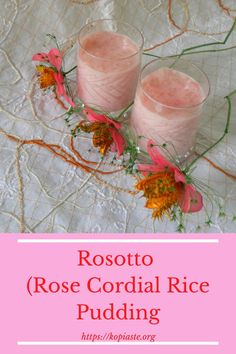 A twist to Greek ryzogalo made vegan with coconut milk and gluten-free as it is thickened with rice flour. It is made pink with rose cordial and flavoured with rose water! #ricepudding #rosecordial #rosotto #Greekdesserts #glutenfreedesserts #lactosefreedesserts #vegandesserts Lactose Free Desserts, Greek Desserts, Greek Recipes, Vegan Desserts, Delicious Desserts, Dessert Recipes, Greek Rice Pudding, Vegan Rice Pudding, Rice Puddings