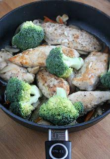 sio-smutki! Monika od kuchni: Jednogarnkowe: filet z kurczaka z warzywami Broccoli, Vegetables, Exercise, Food, Ejercicio, Essen, Vegetable Recipes, Excercise, Work Outs