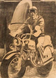 Dimitris Mytaras (born 1934, Chalkida-Greece)  -The motorcyclist , 1974-
