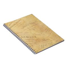 Vintage French Logos Notebook