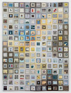 """http://www.erinwilsonquilts.com   Color Story: Yellow Gray, 36"""" x 48"""", 2010 (available)"""