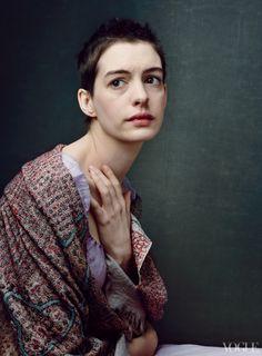 """Anne Hathaway """"Les Miz"""" by Annie Leibovitz for Vogue"""