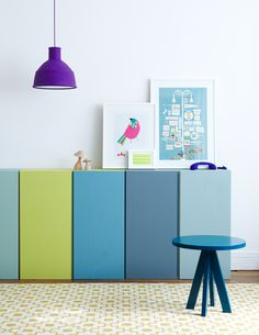 painted cupboards - on the wall?