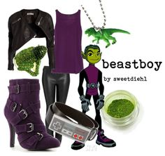 By request - Teen Titans - Beastboy Ide wear it....not the heels, I would kill myslelf walking in those!!! Not for clumsy people!