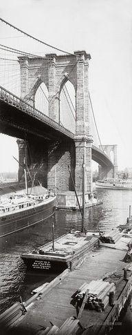 NYC. Brooklyn Bridge, 1896. Only 116 years ago!