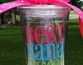 Best Nana Cup Acrylic Tumbler 16oz Nana Grandma Mother's Day Gift Cup Kitchen Accessory Everything Else
