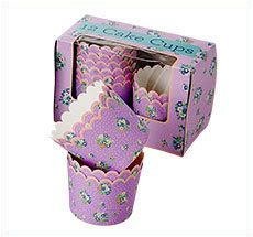 """Rice Formes pour muffins ou cupcakes """"Add More Glitter"""" en violet"""