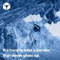 """""""It's hard to beat a person that never gives up."""" -Babe Ruth #quotes #quoteoftheday"""