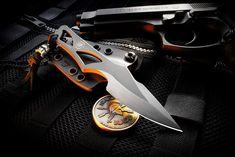 Spartan Blades - Enyo - Neck Knife EDC, Rheinleder