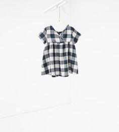 изображение 3 из Платье в клетку от Zara