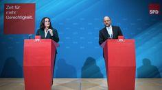 SPD-Chef Martin Schulz und Bundesarbeitsministerin Andrea Nahles