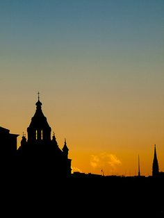 Uspenski Cathedral sunset, Helsinki, Finland