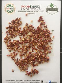 Pomegranate arils- dried. Suitable for food applications and fruit tea blends.
