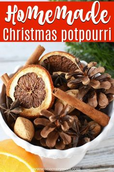 Learn how to make homemade Christmas Potpourri that smells amazing. It is so easy! Find out how to make potpourri with very little effort or expense. How To Make Potpourri, Homemade Potpourri, Potpourri Recipes, Homemade Christmas, Diy Christmas Gifts, Christmas Holidays, Christmas Smells, Christmas Ideas, Christmas Decorations