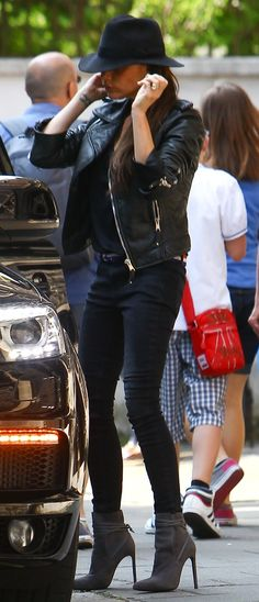Victoria Beckham attending an event at her youngest son's school in London on July 5, 2013