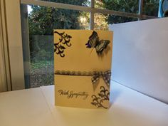 Crafting with Helena: With Sympathy Note card