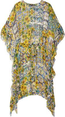ShopStyle: Dolce & Gabbana Printed silk-chiffon kaftan