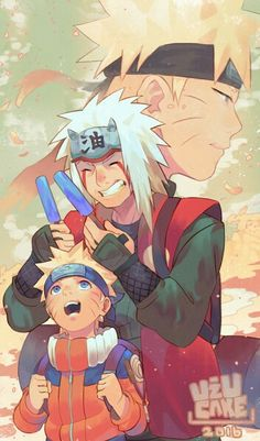 Grandfather and a Grandson Naruto