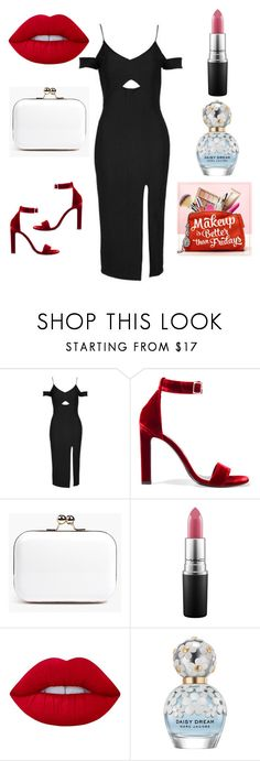 """""""Get yourself dressed for your date night girlies ❤️️"""" by anyaaa04 on Polyvore featuring Topshop, Yves Saint Laurent, Boohoo, MAC Cosmetics, Lime Crime, Marc Jacobs and ULTA"""