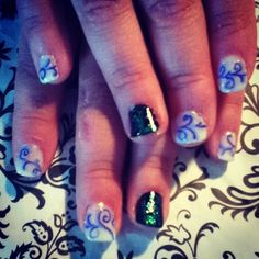 Lizzy's nails for her father daughter dance.
