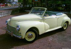 Peugeot - 203 Cabriolet Looks like Columbo's car. Peugeot 203, Psa Peugeot Citroen, Citroen Ds, Classic Motors, Classic Cars, Vintage Cars, Antique Cars, Peugeot France, 1950s Car