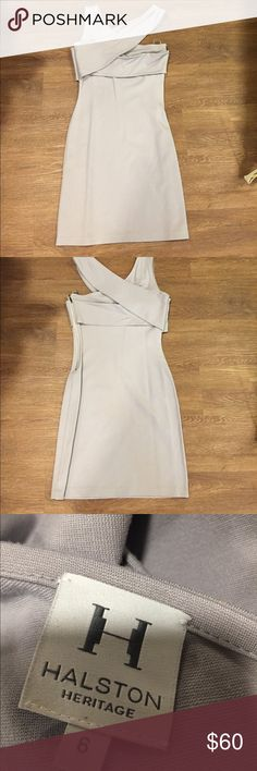 Grey knit dress Grey Knit Dress Halston Heritage Dresses
