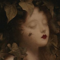 "STEPHEN MACKEY, ""SLEEP FOR ONE HUNDRED YEARS NO. 2,"" OIL ON PANEL, 5 X 5 INCHES"