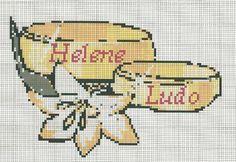 trouwringen Cross Stitching, Cross Stitch Embroidery, Stitches Wow, Wedding Cross Stitch Patterns, Cross Stitch Love, Labor, Plastic Canvas Crafts, Hobbies And Crafts, Crochet Patterns