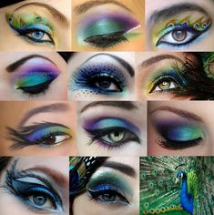 Peacock inspired make-up