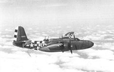 Douglas A-20G-30-DO   of the 410th Bomb Group, 644th Bomb Squadron, in flight.