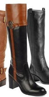Brown and black riding boot