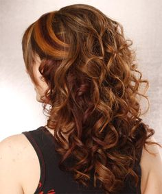 Fancy Elegant Hairstyles with bangs   Formal Half Up Long Curly Hairstyle - Medium Brunette Layered - 12140 ...