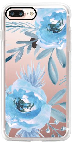 Casetify iPhone 7 Plus Case and other Floral iPhone Covers - Blue Flower by Julia Badeeva | Casetify