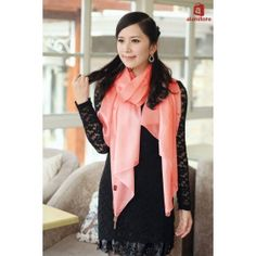 Women's Latest Style Scarf, Pure Silk Material, Sunscreen, Suitable In Summer Real Natural Silk Made