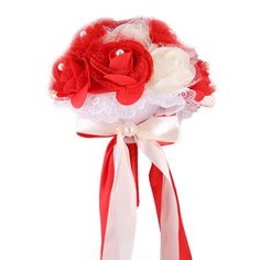 Home - Country Decor Idea Foam Roses, Prim Decor, Rose Buds, Bouquet, Ornaments, Bridal, Red, Crafts, Wedding