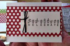 5 cards in 15 minutes using Sign Language Stamps