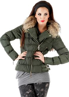 Daunenjacke Mangana oliv: RELISH, Italy #daunenjacke #downjacket #relish #winter