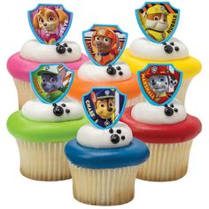 Nickelodeon Paw Patrol Birthday Cupcake Rings (8) Count New/Sealed VHTF #Nickelodeon