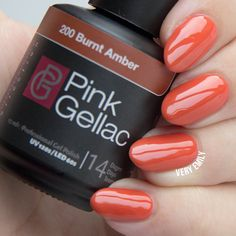 pink gellac Burnt Amber