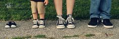 This is so us! Mav and I both wear chucks, but Michael is a Nike guy haha