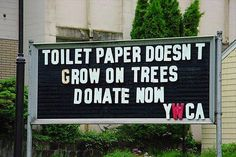 toilet paper donations
