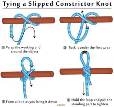 How to Tie a Slipped Constrictor Knot