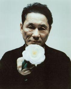 Takeshi Kitano likes flowers.