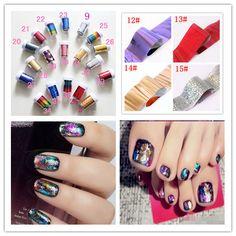 Hot Sale!  Stylish Beauty Hot Sells Glaxy Nail Sticker Nail Art Decal Foil 36 Colors Free Shipping 10pcs $4.10